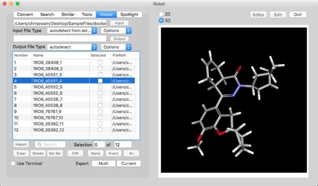 openbabel   Macs in Chemistry