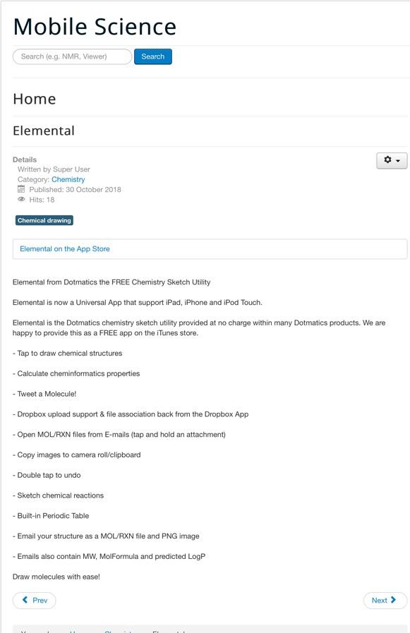iPad | Macs in Chemistry