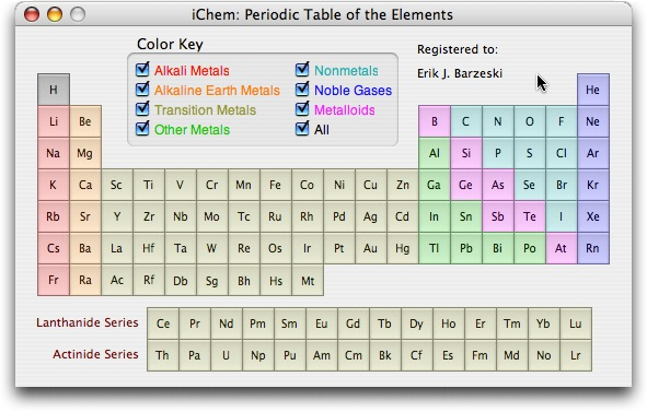 Macs in chemistry ichem written in cocoa for mac os x exclusively ichem is a full featured periodic table and molecular weight calculator urtaz Gallery